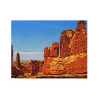 Arches National Park Rocks Wood Poster