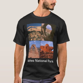 Arches National Park Sandstone Aches Collage T-Shirt