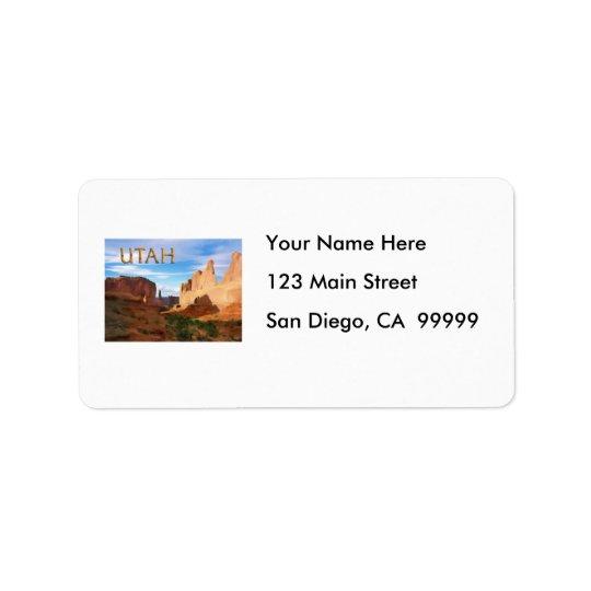 Arches National Park UTAH Label