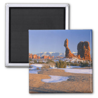ARCHES NATIONAL PARK, UTAH. USA. Balanced Rock Square Magnet