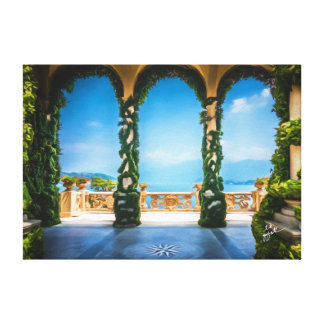 Arches of Italy Colorful Elegant Photo Art Canvas Print