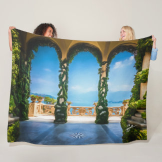 Arches of Italy Colorful Elegant Photography Fleece Blanket