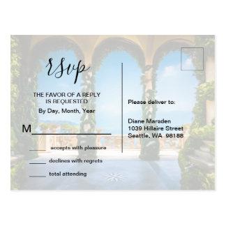 Arches of Italy Elegant RSVP Enclosure Postcard