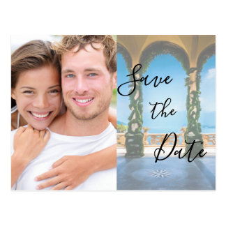 Arches of Italy Elegant Save The Date Photo Postcard