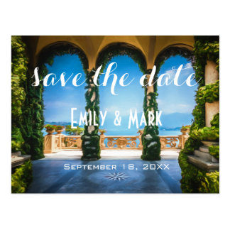 Arches of Italy Elegant Save The Date Postcard