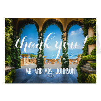 Arches of Italy Elegant Thank You Note Card