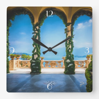 Arches of Italy Square Wall Clock
