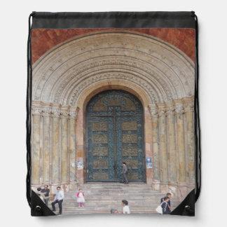 Arches of the Iglesia Cuenca Ecuador Drawstring Bag
