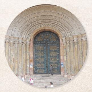 Arches of the Iglesia Cuenca Ecuador Round Paper Coaster