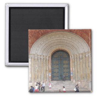 Arches of the Iglesia Cuenca Ecuador Square Magnet