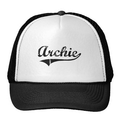 Archie Classic Style Name Trucker Hats