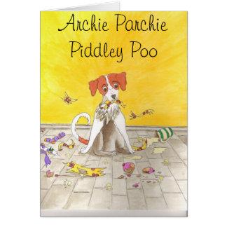 Archie ParchiePiddley Poo Note Card
