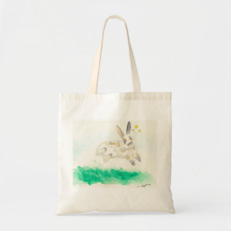 Archie, the binky bunny tote bag
