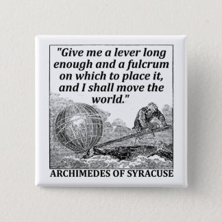 Archimedes Lever 15 Cm Square Badge