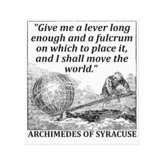 Archimedes Lever Canvas Print