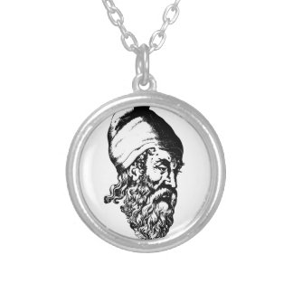 Archimedes Silver Plated Necklace