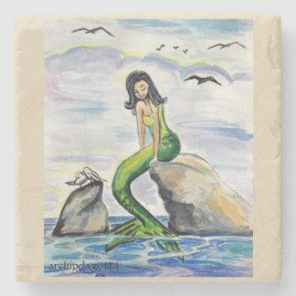 Archipelago144 Emerald Mermaid Stone Coaster