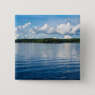 Archipelago on the Baltic Sea coast in Sweden 15 Cm Square Badge