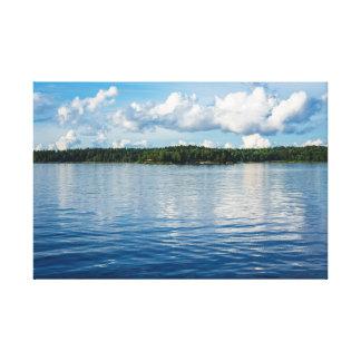 Archipelago on the Baltic Sea coast in Sweden Canvas Print