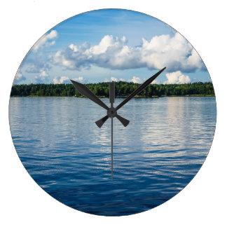 Archipelago on the Baltic Sea coast in Sweden Large Clock