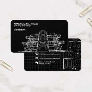 architect designer plans business card