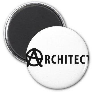 architect icon 6 cm round magnet