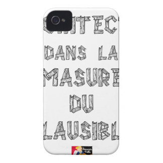 ARCHITECT, in the HOVEL OF the PLAUSIBLE one iPhone 4 Case-Mate Case