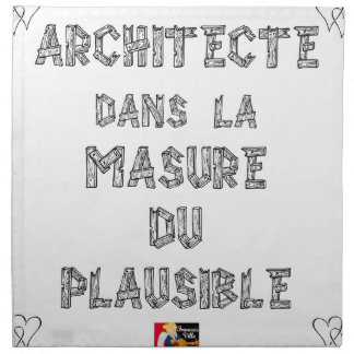 ARCHITECT, in the HOVEL OF the PLAUSIBLE one Napkin