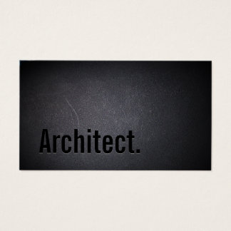 Architect Minimalist Bold Text Elegant Black Business Card