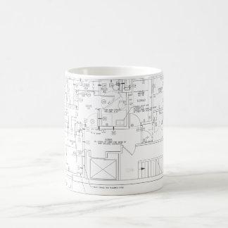 architect plans coffee mug