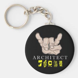 architect rocks basic round button key ring