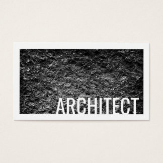 Architect Rough Cement Wall White Border Card