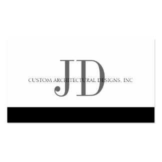 Architect White/White - Available Letterhead - Business Cards
