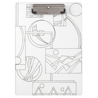 Architect's Dream Three-Black And White Drawing Clipboard
