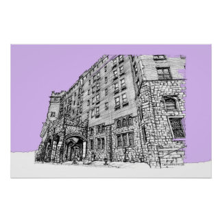Architectture in lilac print