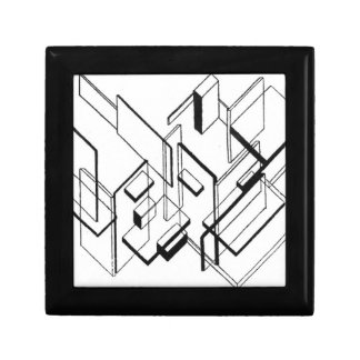 Architectural Analysis by Theo van Doesburg Small Square Gift Box