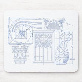 Architectural Blueprints Mouse Pad