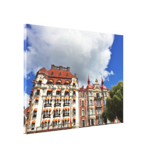 Architectural building in Stockholm Canvas Print