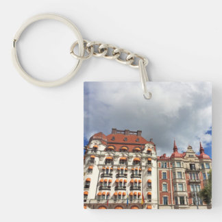 Architectural building in Stockholm Key Ring