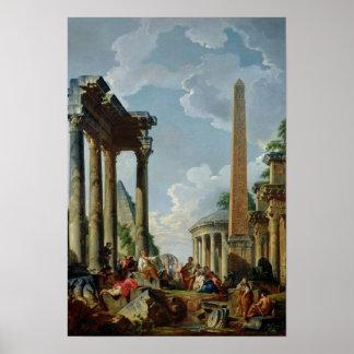 Architectural Capriccio with a Preacher Poster