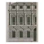 Architectural design demonstrating Palladian propo Poster