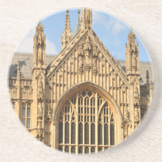 Architectural detail of Gothic window Beverage Coaster