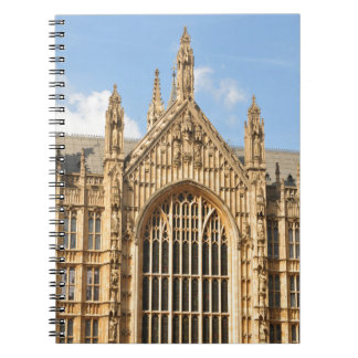 Architectural detail of Gothic window Notebook