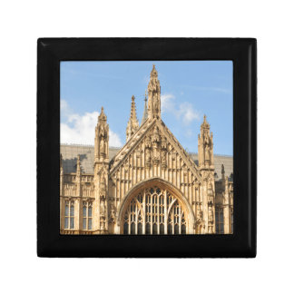 Architectural detail of Gothic window Small Square Gift Box