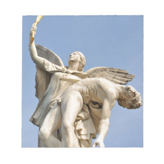 Architectural detail of statue in Berlin, Germany Notepad