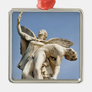 Architectural detail of statue in Berlin, Germany Silver-Colored Square Decoration
