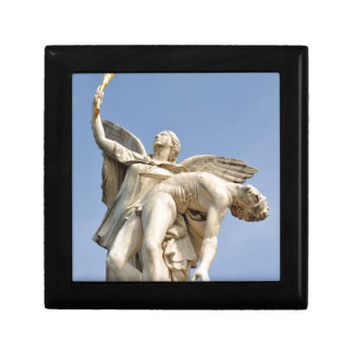 Architectural detail of statue in Berlin, Germany Small Square Gift Box
