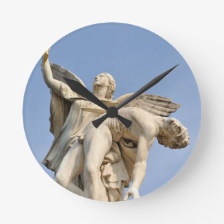 Architectural detail of statue in Berlin, Germany Wallclocks