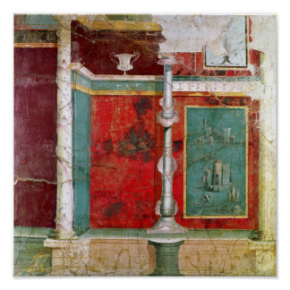 Architectural detail with a landscape poster