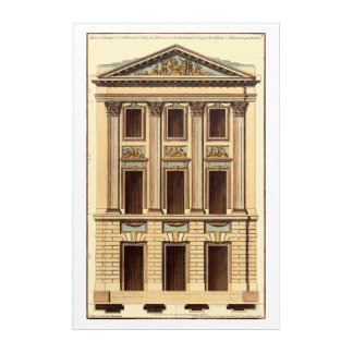 Architectural Facade by Jean Deneufforge Acrylic Wall Art